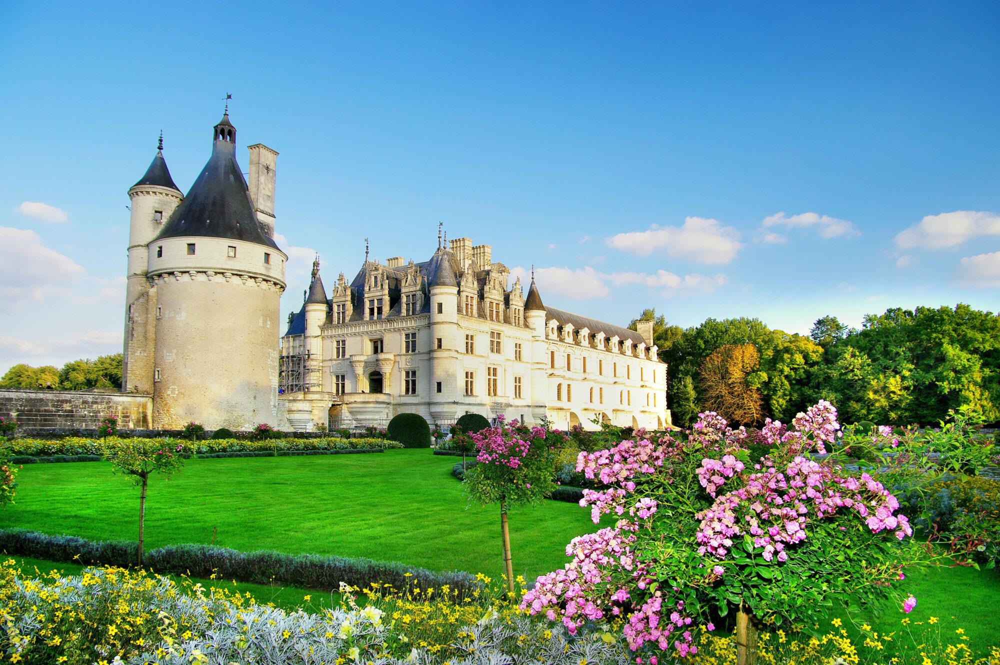 beautiful Chenonseau castle ‑Loire valley